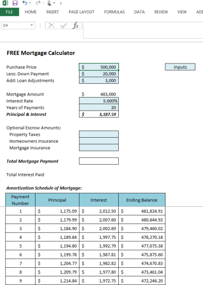 Excel Mortgage Amortization Table Download - 7 amortization schedule calculator excel flyer ...