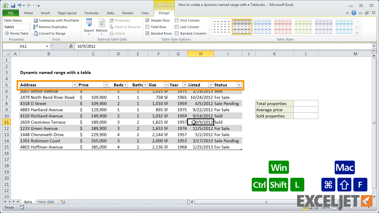 Named Ranges Excel 2013 From The Video How To Create A Dynamic Named Range  With Download