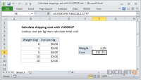 Excel formula: Calculate shipping cost with VLOOKUP | Exceljet