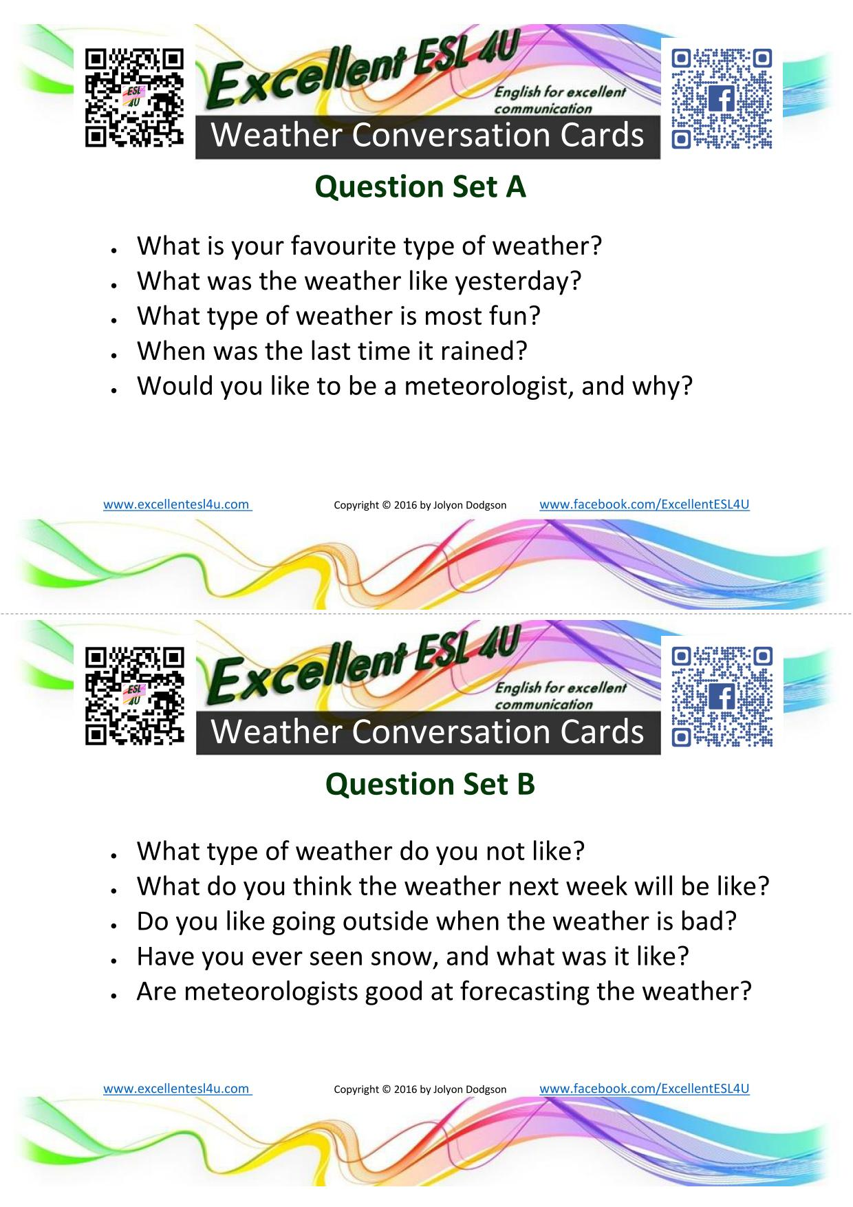 Like Weather What Esl Weather Conversation