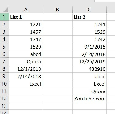 compare values Archives - Excel Nerds