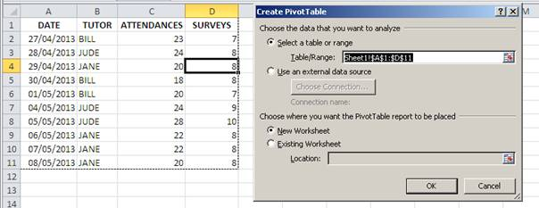 How to Create a Pivot Table with Expanding Data Ranges -