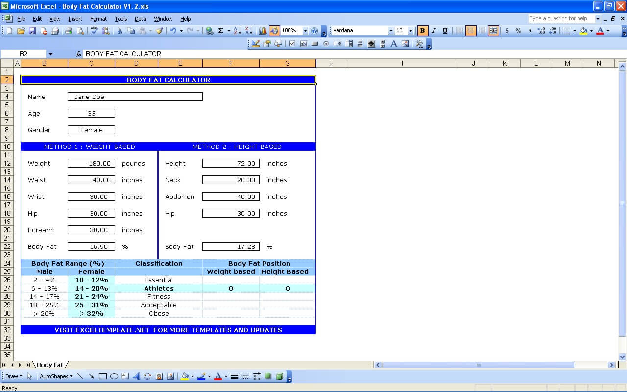 Body Fat Calculator Download How To Calculate Bmi