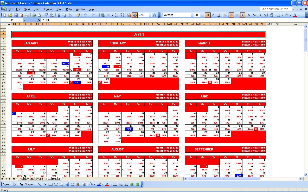 Chinese Western Calendar Conversion Western Chinese Calendar Converter Chinese Calendar Excel Templates