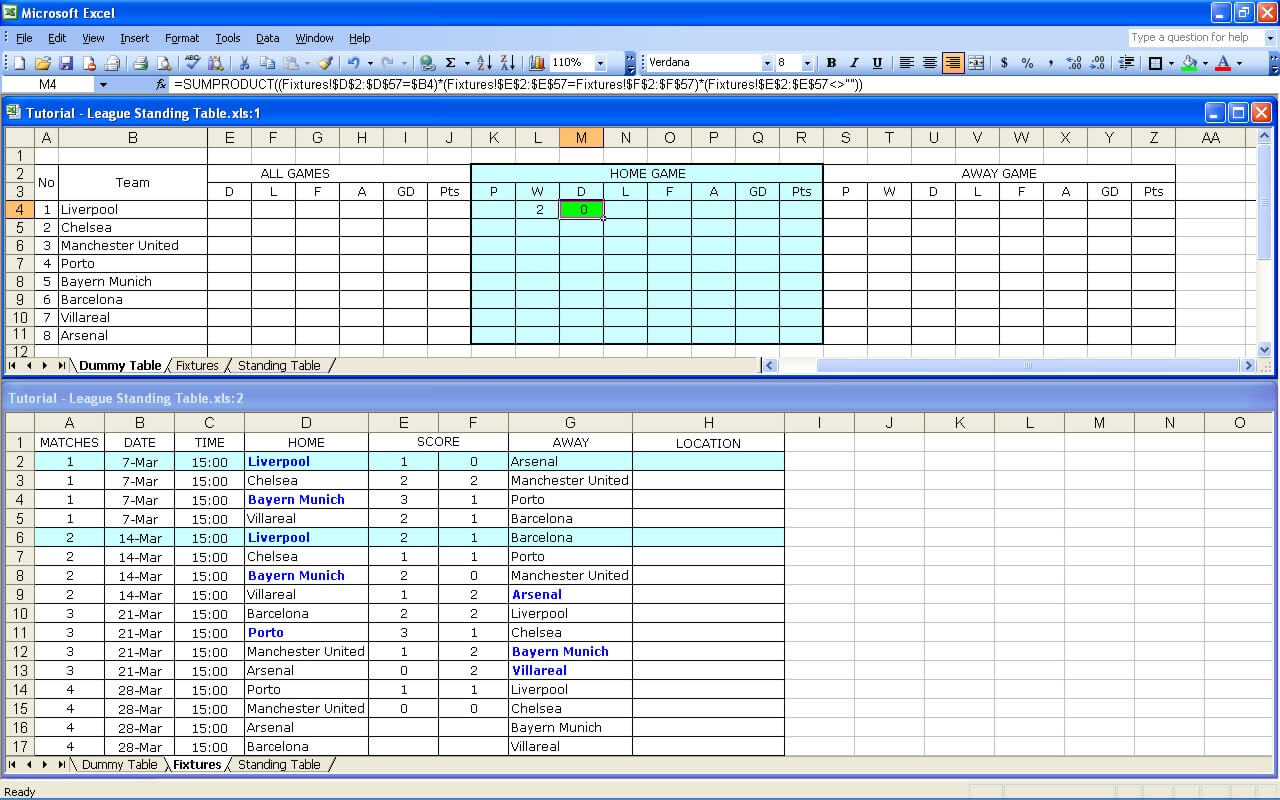 Cash Pool Celle Create Your Own Soccer League Fixtures And Table Excel