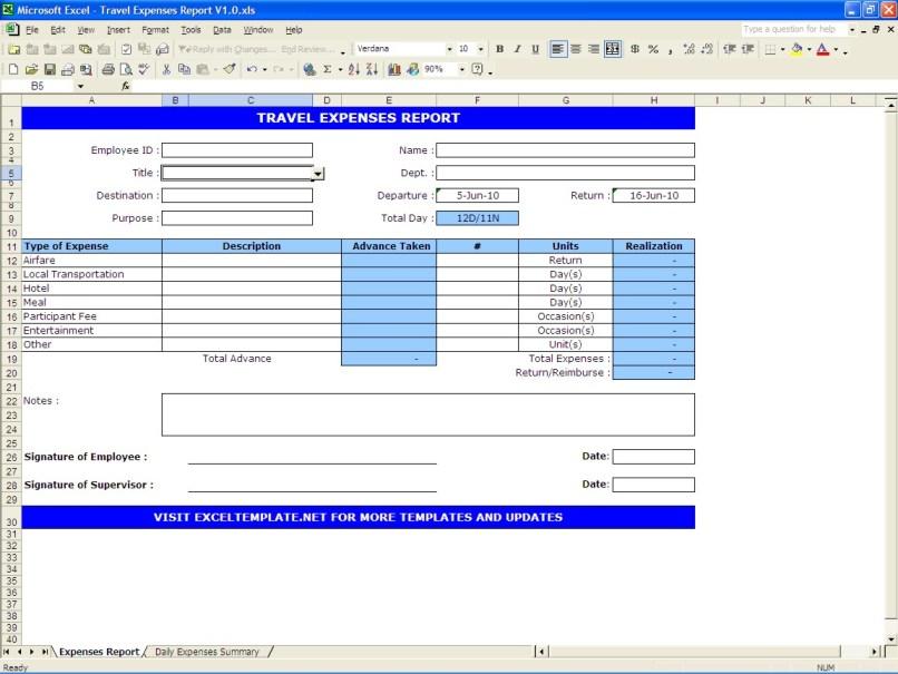 estimate travel expenses by car anexa creancy