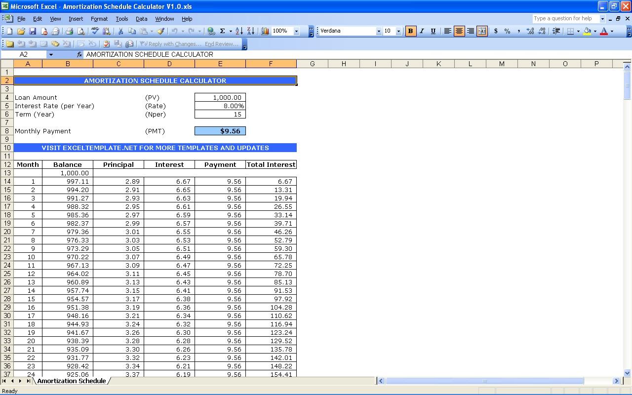 bills calendar template
