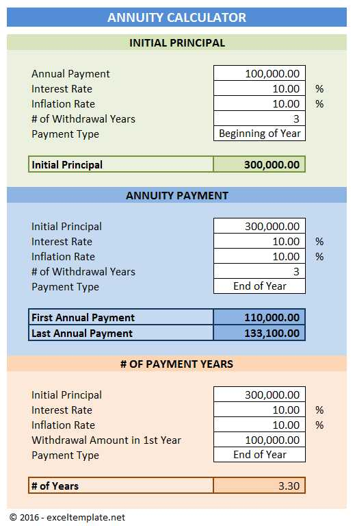 Annuity Calculator Excel Templates
