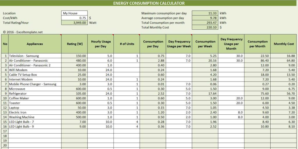 Gas Electric Gas Electric Bill Calculator - monthly bill calculator