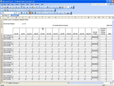 sales forecast spreadsheet template - Ukransoochi