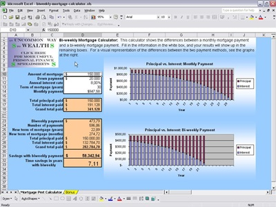 Mortgage Calculator Free Mortgage Calculator for Excel - mortgage calculator template
