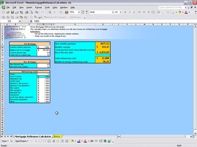 Home Mortgage Refinance Calculator Mortgage Refinance Calculator - refinance calculator