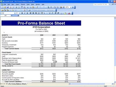 Proforma Balance Sheet Free Proforma Balance Sheet Template