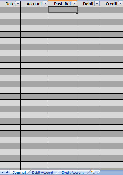 general ledger template printable .