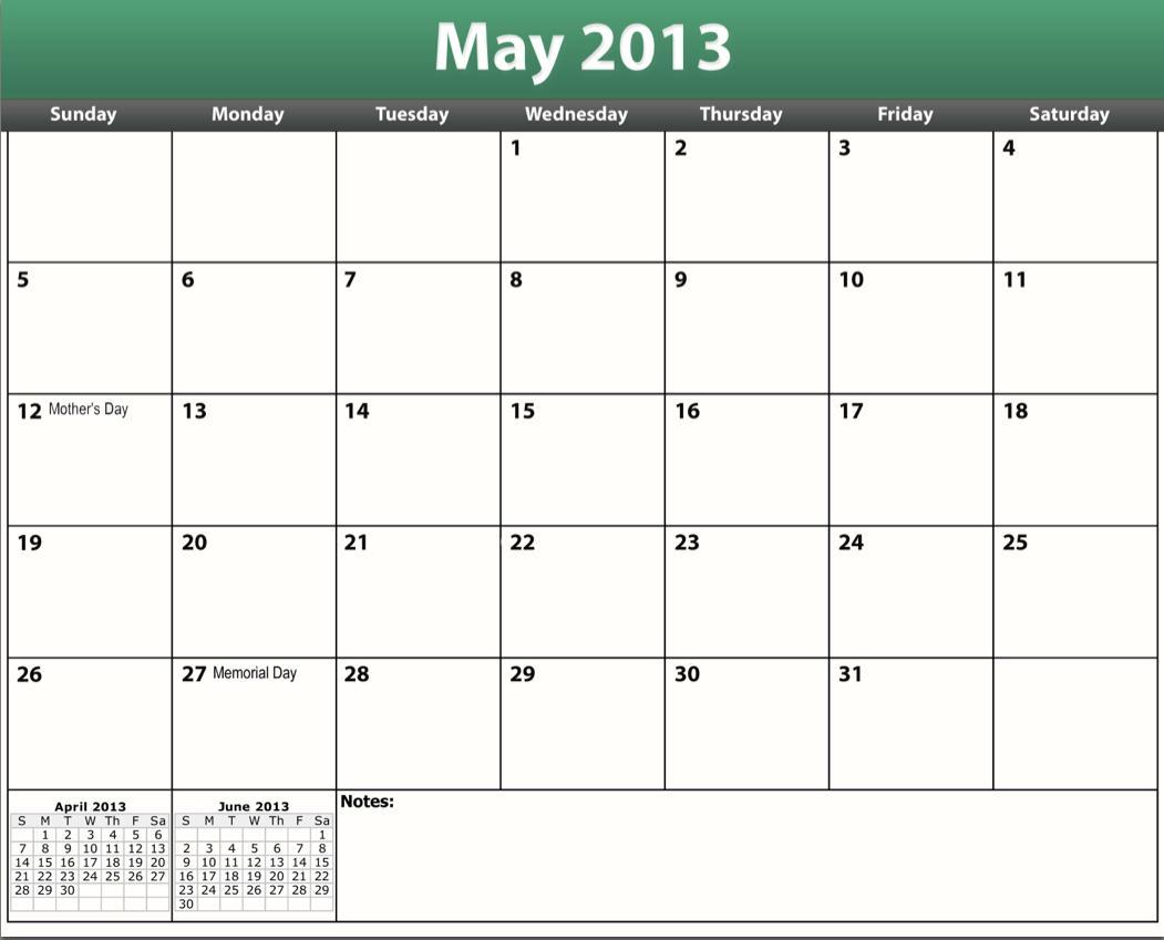 Free Printable Calendar May 2013 free printable calendars may 2013 ...