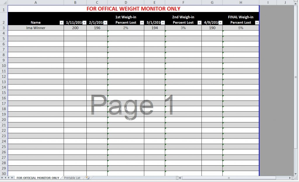 weight loss tracking forms radiovkm - weightloss spreadsheet