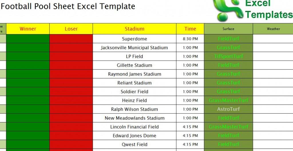 Football Pool Sheet Excel Template Football Pool Template