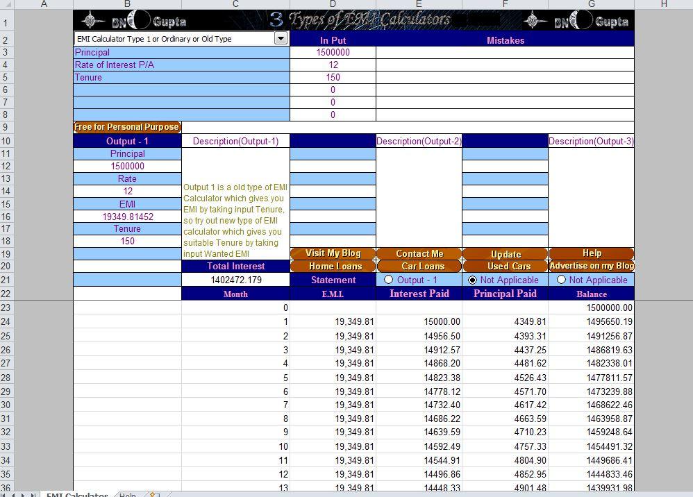 Excel Loan Calculator Template - mandegarinfo