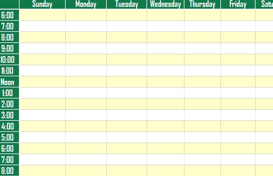 weekly planner template - agenda planner template