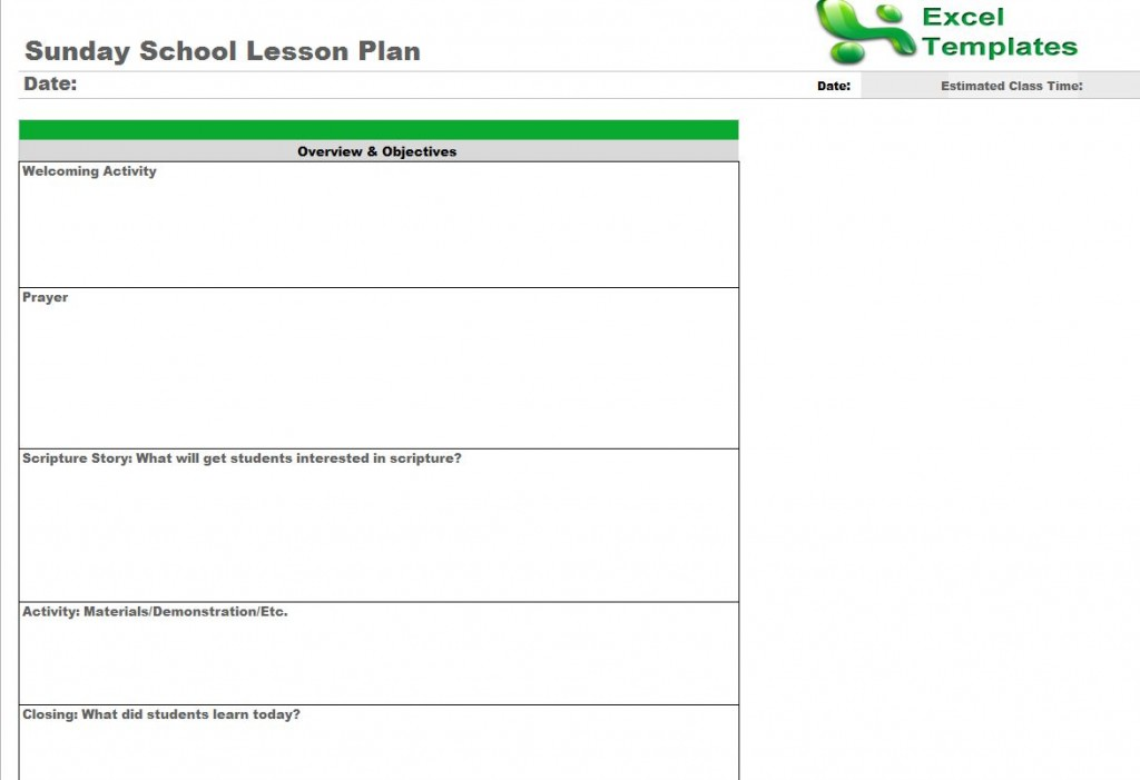 This Is A Editable Lesson Plan Template For An Individual Subject