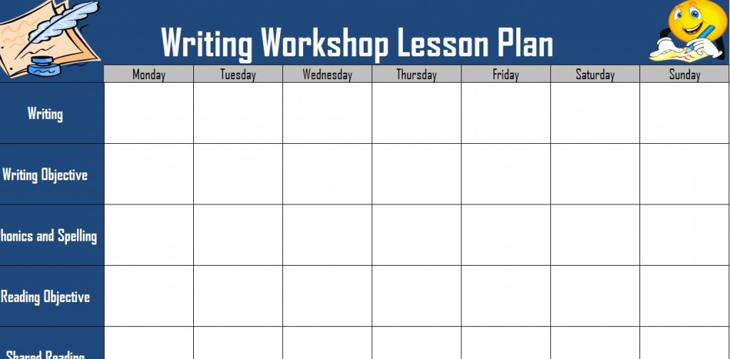 Writers Workshop Lesson Plan Template Image Collections Template