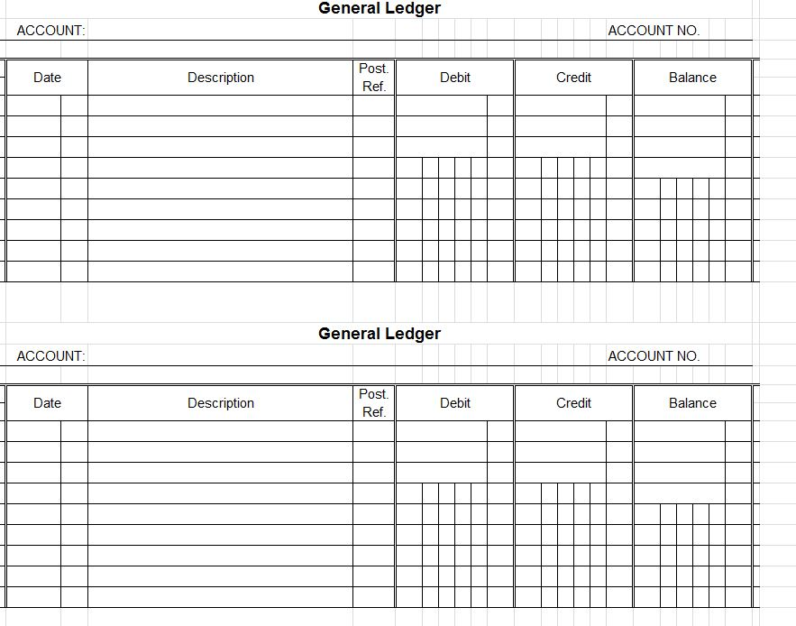 Accounting Ledger Template Account Ledger Template