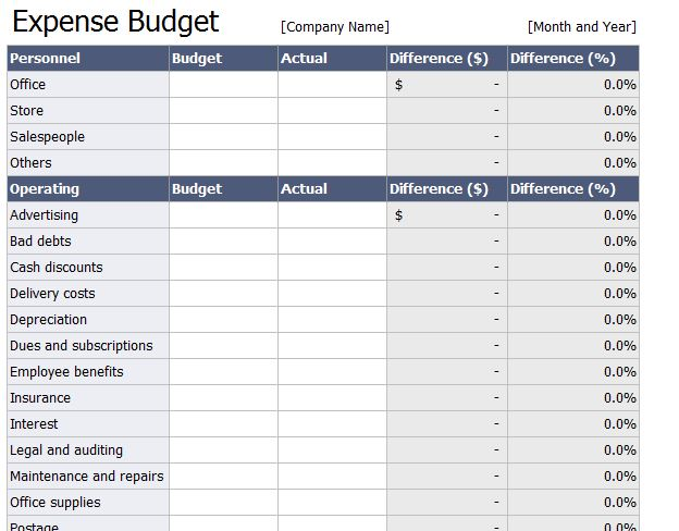 Free business plan spreadsheets