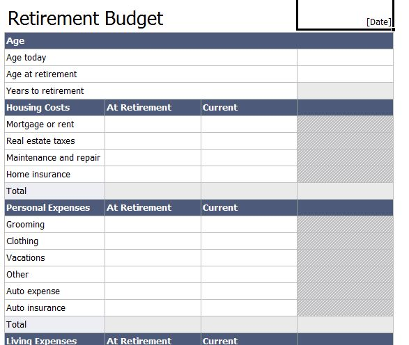 Worksheets Retirement Budget Worksheet retirement budget worksheet delibertad planning worksheets delibertad