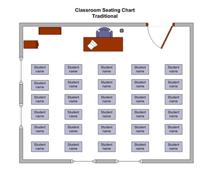 seating chart template for classroom