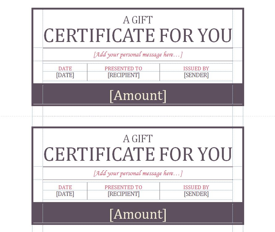 Gift Certificate Template Gift Certificate Template Word
