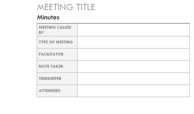 Outlook Meeting Minutes Template Outlook Meeting Notes Template