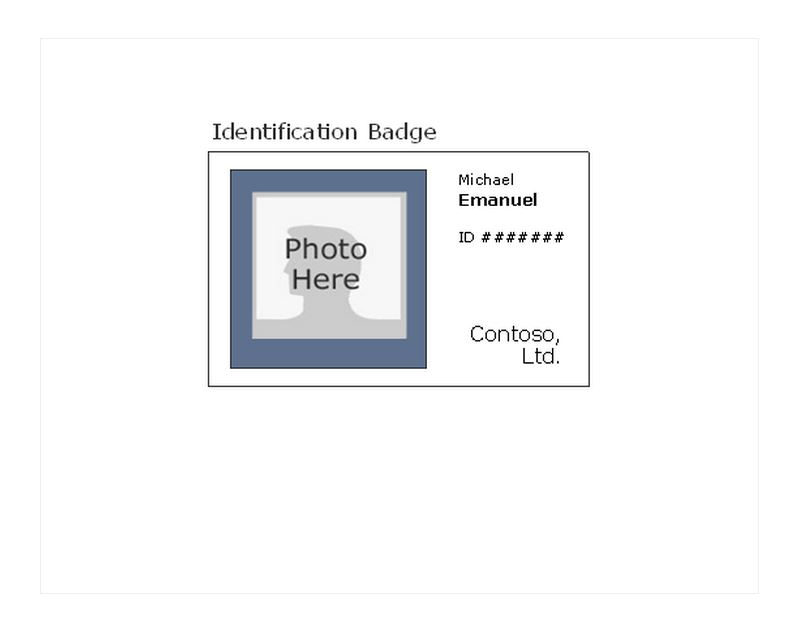 id badge template word - free id badge templates