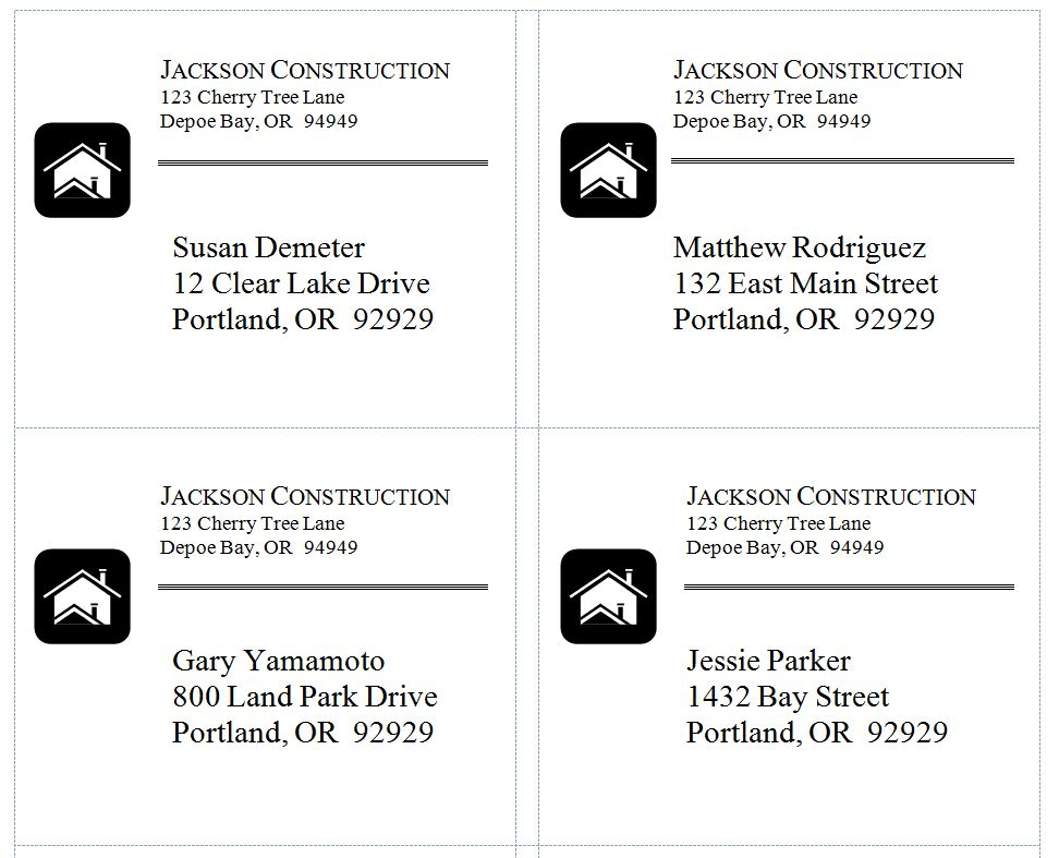 Shipping Address Label Template | Sample Customer Service Resume