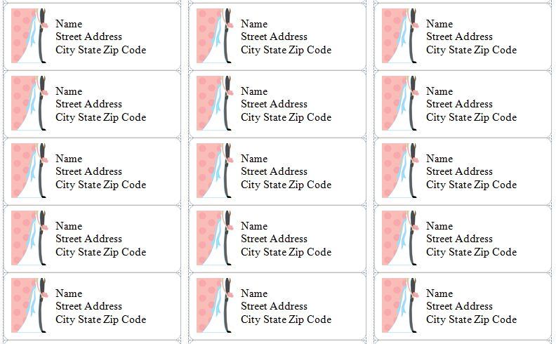 microsoft word address labels template