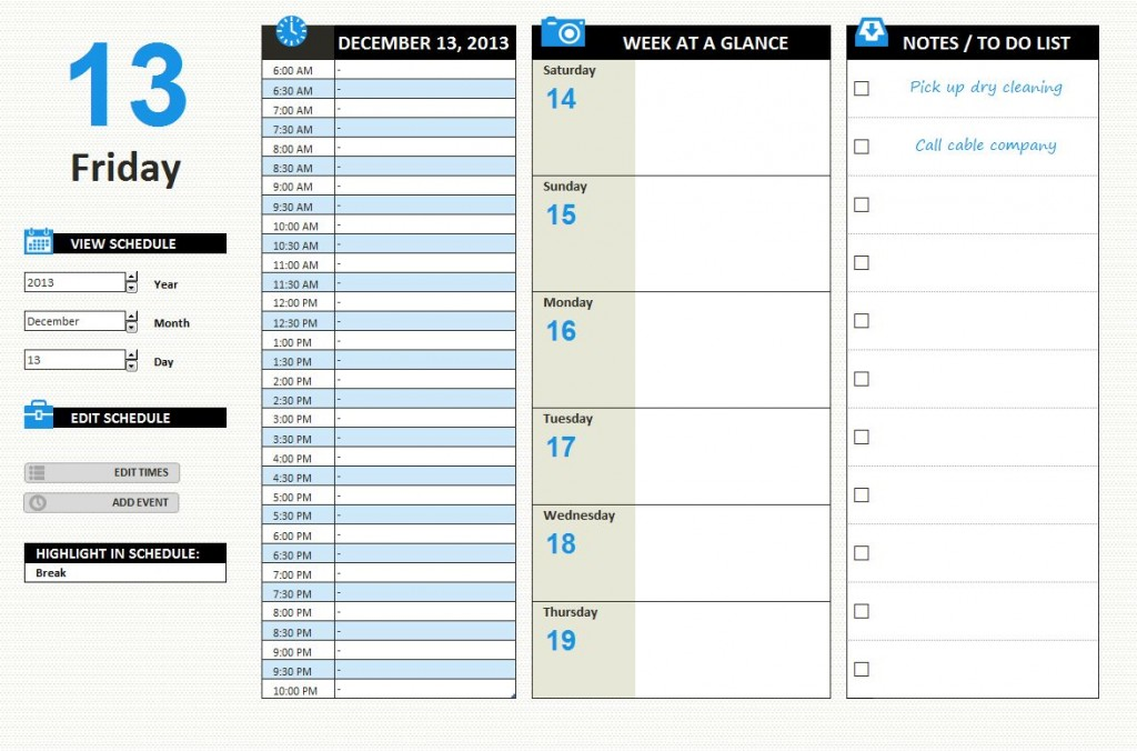 work schedule template excel datariouruguay