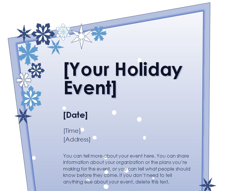 holiday flyer maker - Peopledavidjoel