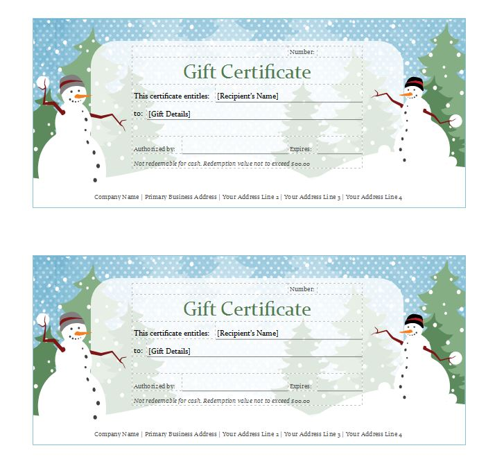 Cool Custom Gift Certificate Template Ideas Editable Format Of