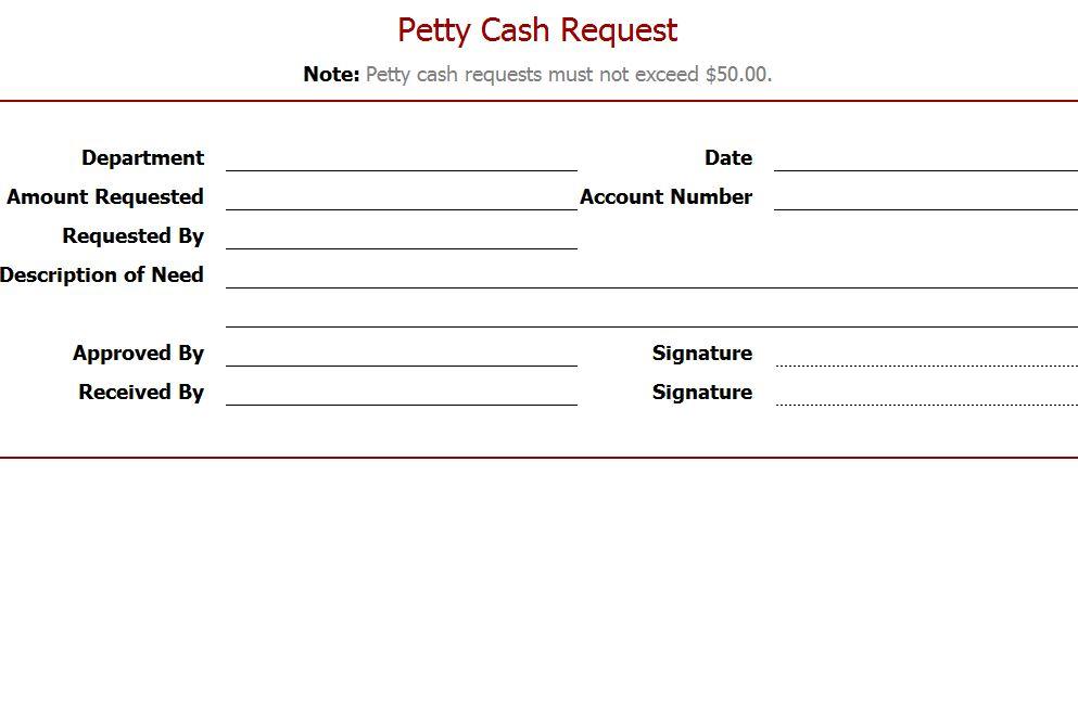 petty cash request form template - Tikirreitschule-pegasus