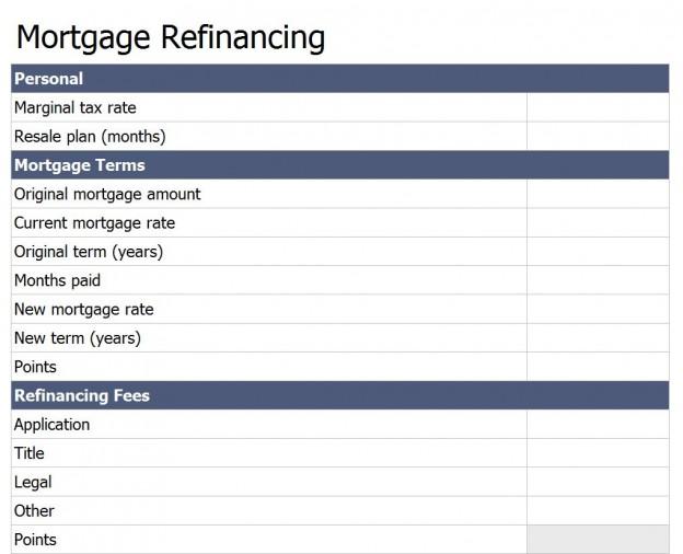 Refinance Calculator Should I Refinance Mortgage Calculator - refinance calculator