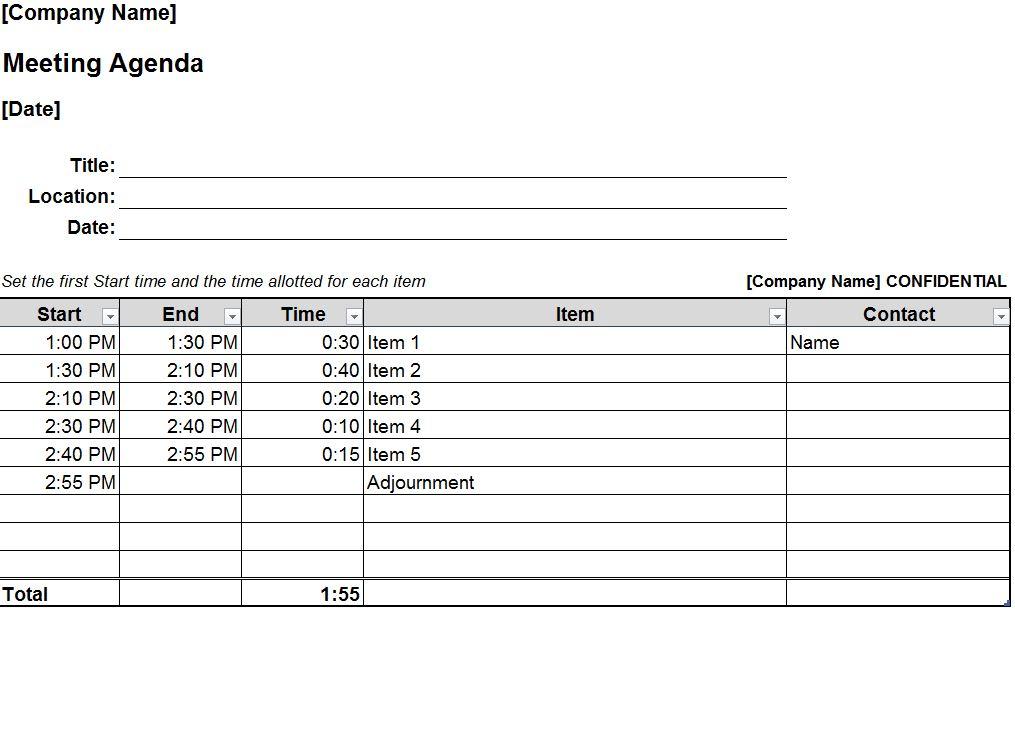 Staff Meeting Agenda Template Staff Meeting Agenda
