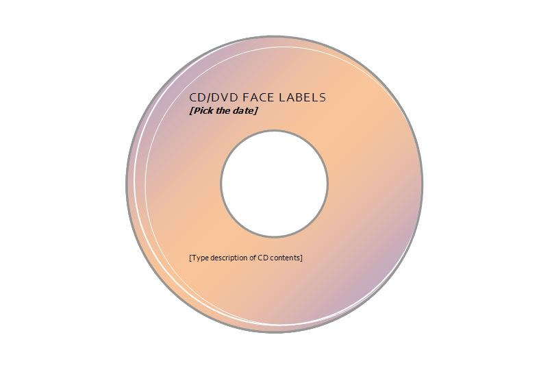 Compatible with Avery CD Label Template 5931