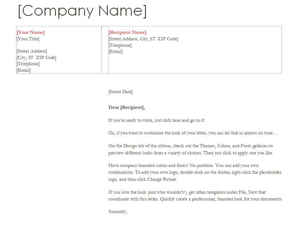 Business Letterhead Business Letterhead Template