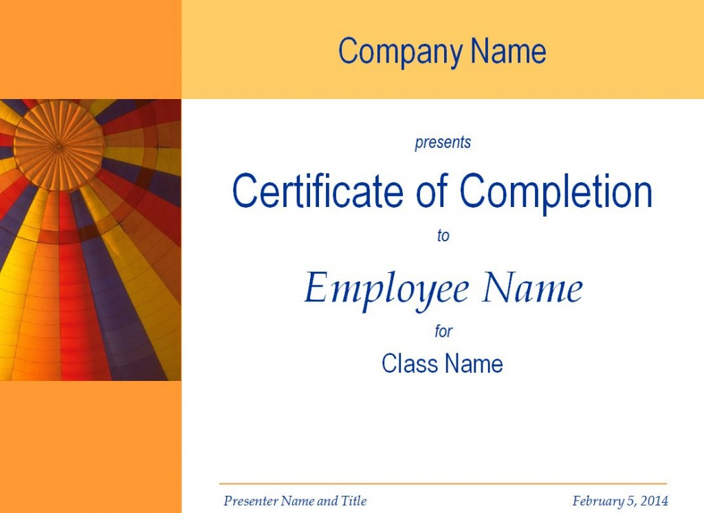 employee training certificate template