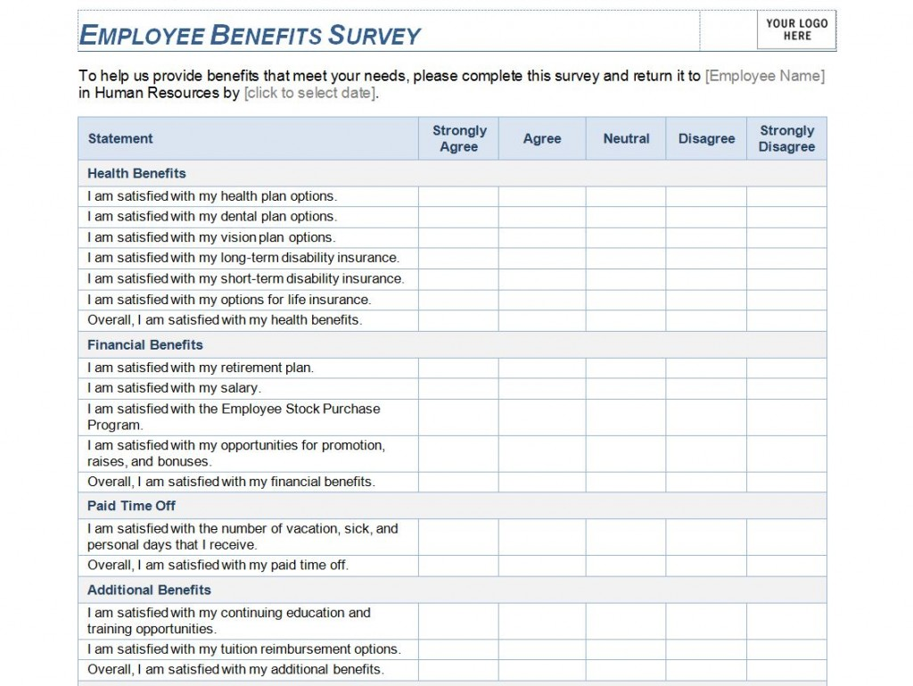printable survey – Blank Survey Template
