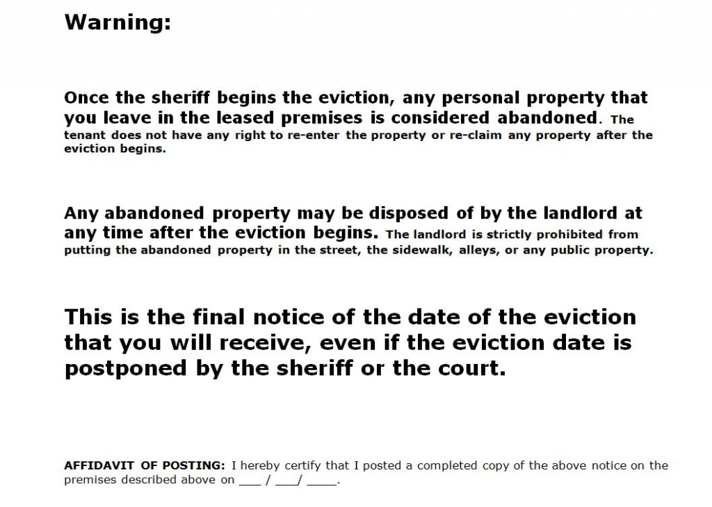 notice of eviction form templatejpg - eviction notices template
