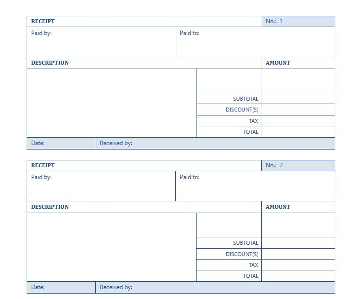 Rental Receipt Template Rental Receipt Template Word - proof of payment receipt