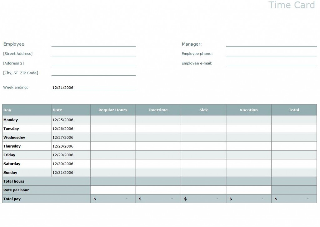 excel time sheet template - result card format in excel