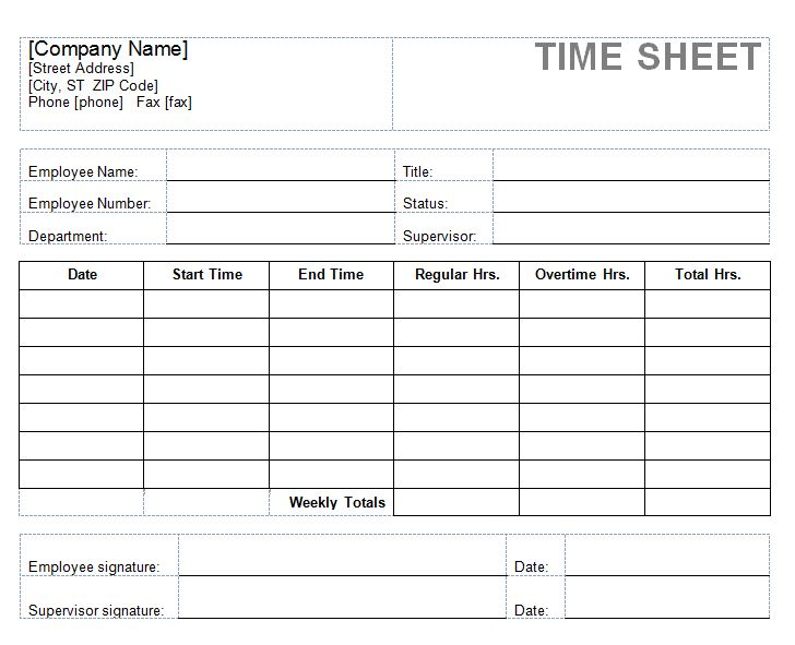 Timesheet Policy Template – Free Printable Timesheets for Employees