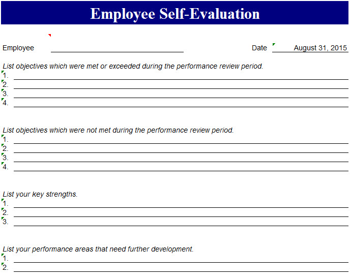 Self Evaluations This Table Relates To My First Physical Education