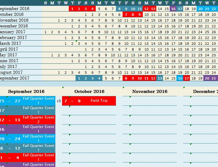 weekly school planner 2015 2016 this academic calendar is free to - academic calendar templates